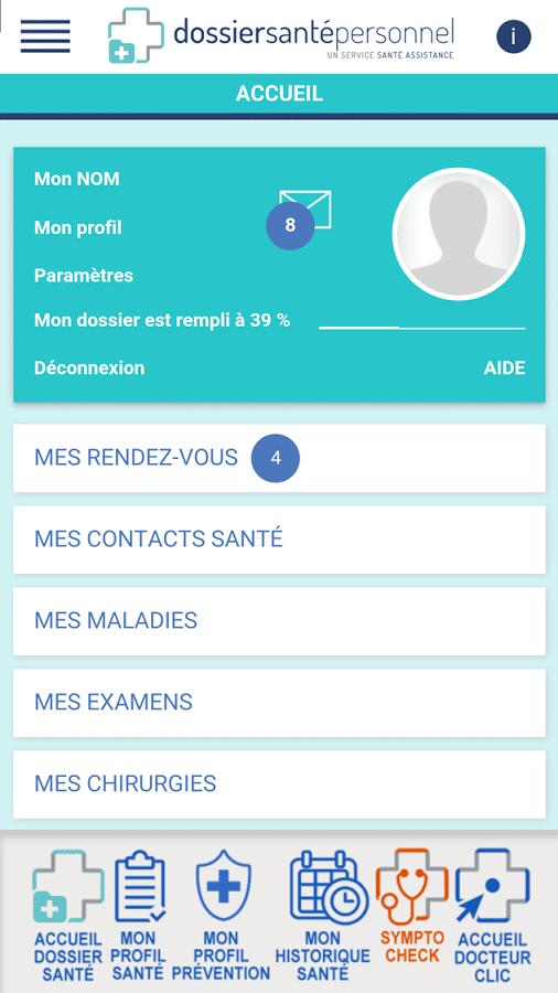 Lancement du Dossier Santé Personnel sur mobile