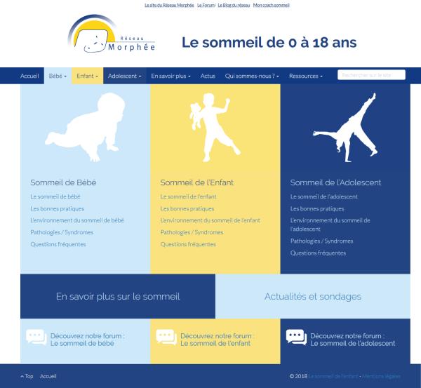 Lancement par le Réseau Morphée du site de référence sur le sommeil des 0 à 18 ans