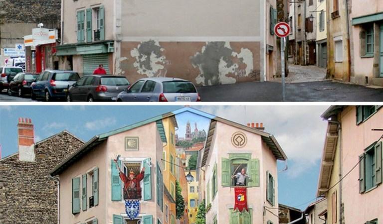 Sıkıcı Binaları İnanılmaz Eserlerle Süsleyen Fransız Sanatçı