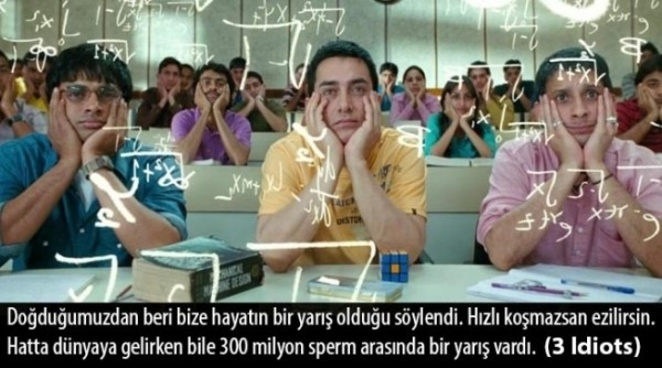 Aamir Khan 3 idiots Yarış