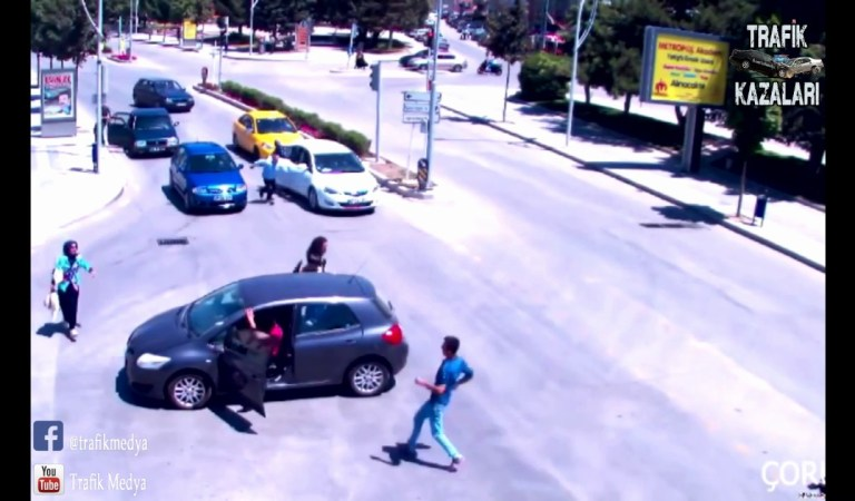 Çorum'da Yaşanan, Anlam Vermekte Zorlanacağınız Akılalmaz Trafik Kazası