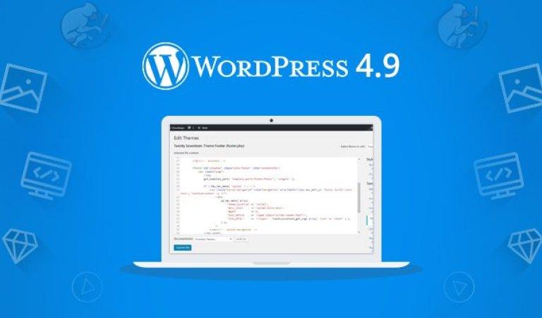WordPress 4.9 Sürümü Yenilikleri ve Değişiklikler