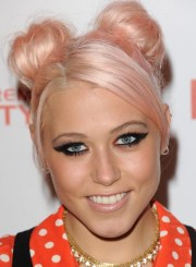 cute top knot bun hairstyle