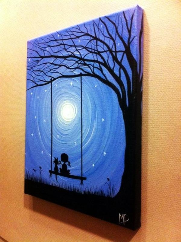 Dream Canvas Art Ideas For Beginners 45 Photo  DMA Homes