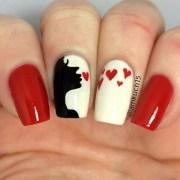 romantic valentine day nail