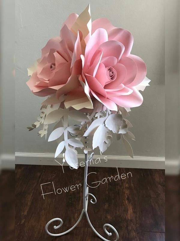 20 DIY Giant Paper Flowers Ideas to Try  OBSiGeN