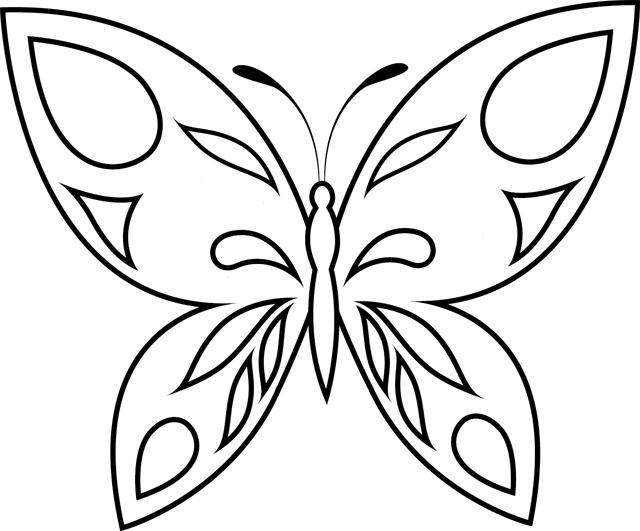 98 Dessins De Coloriage Papillon Facile Imprimer Free Coloring Pages
