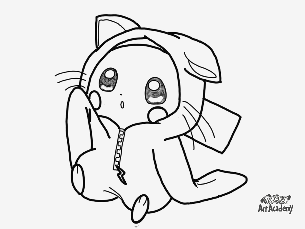 Pikachu Coloring Page Happy Birthday