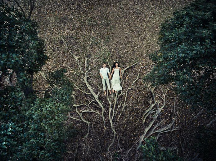 wedding pics from drones