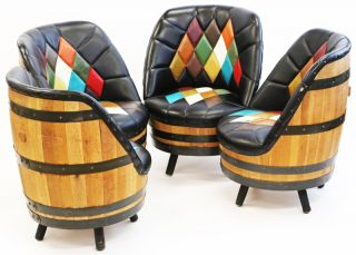 whiskey barrel chairs
