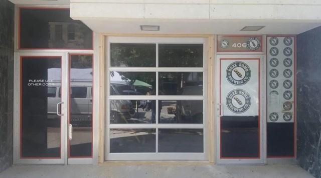 new glass roller door