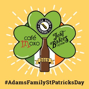Adams Family St Pattys Day