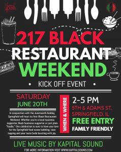 217 black restaurant weekend