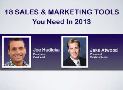 top 18 sales and marketing tools