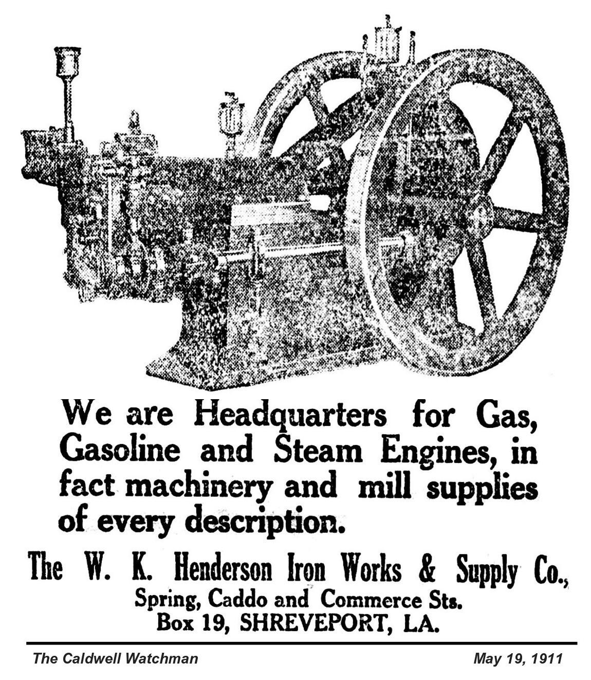 W K Henderson Iron Works Amp Supply Co