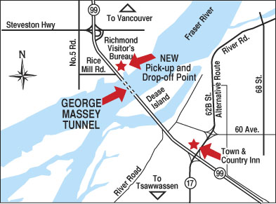 The Massey Tunnel - bikes can shuttle through it all winter!