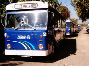 Opening day of the trolley line from Las Heras - Godoy Cruz in 2004. Photo from Jorge Guevara.