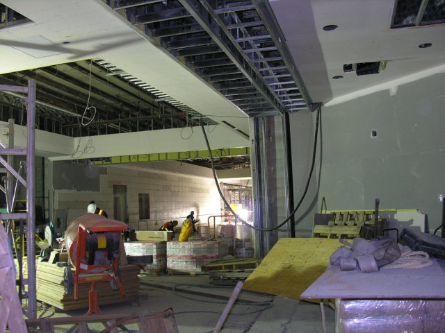 Looking down the hall on the concourse level.