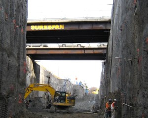 ere's the Canada Line bridge piece that will be used to repair the Pattullo. Photo courtesy of Surespan Construction!