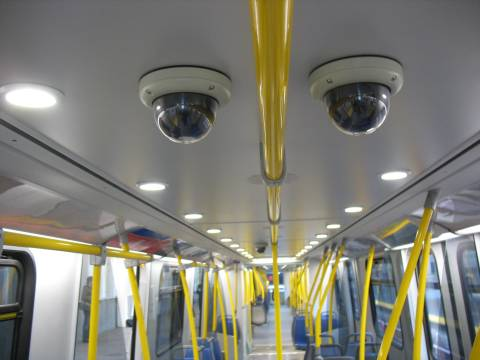Four CCTV cameras are in each SkyTrain car.