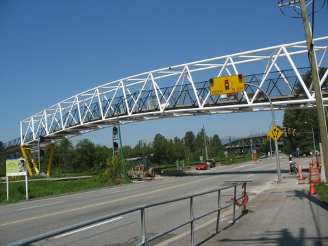 The Winston Overpass near Sperling SkyTrain Station.