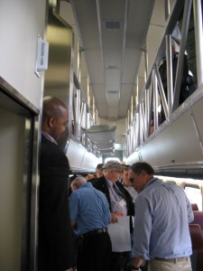 NICTD train cars have two levels for passengers.