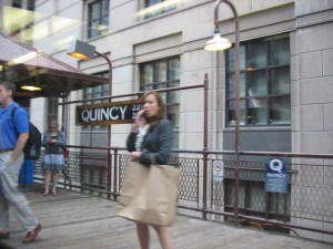 Quincy Station on the Loop. It was rebuilt in the 1980s to mimic its look in 1897.