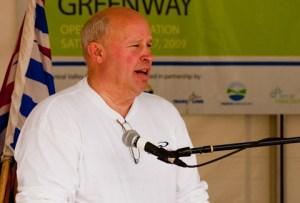 Our CEO Tom Prendergast, speaking at the opening of the Central Valley Greenway in June 2009.