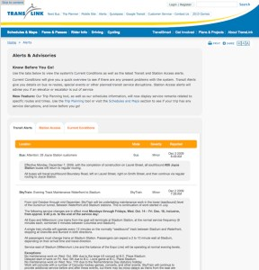 Screenshot of the current alerts page. Visit it here: http://www.translink.ca/en/Utilities/Alerts.aspx?tab=0