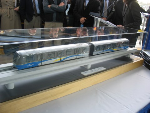 The model SkyTrain! It will be housed at the BCRTC operations and maintenance centre (like the real SkyTrains :)