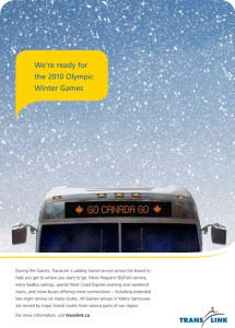 TransLink's Olympic readiness ads.