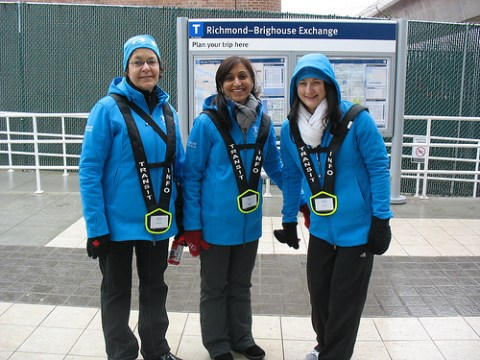 The transit hosts at Richmond-Brighouse Station!