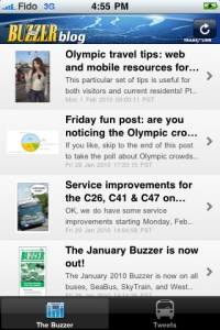 The Buzzer blog iPhone app!