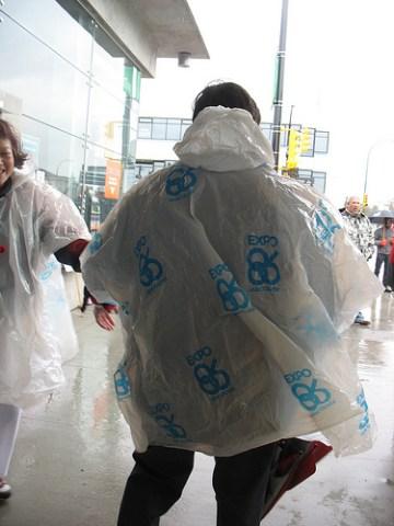 An Expo 86 rain poncho!