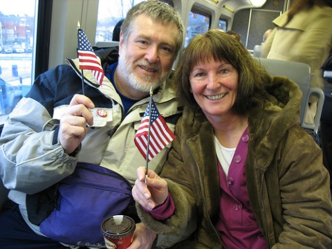 Chris and Patty, Seattle residents who are here for the Games and staying in Maple Ridge.