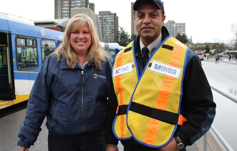 Linda, a transit operator, and Shivgil, a transit supervisor!