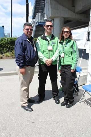 The Canada Line team with one of the folks from L.A. Metro