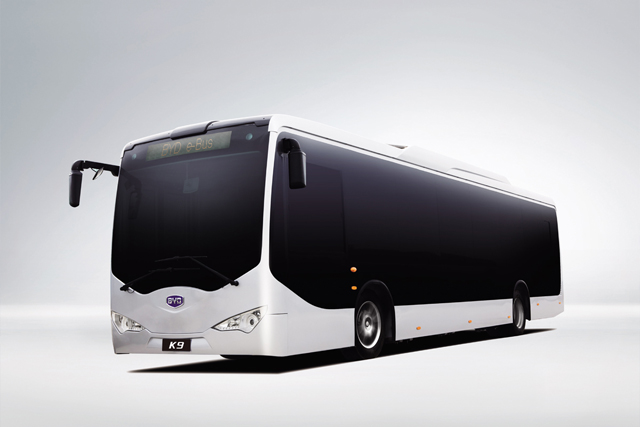The BYD electric bus
