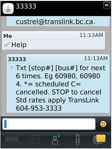 The Buzzer blog » Next Bus SMS goes real-time