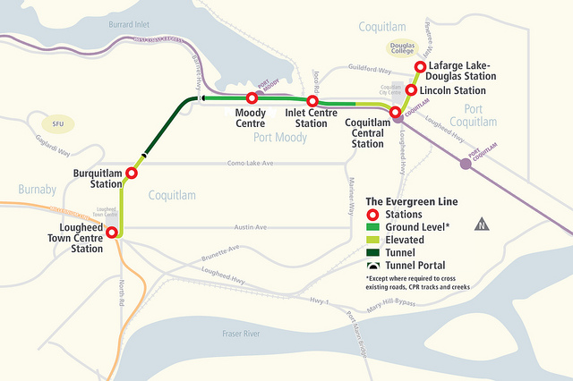 Evergreen Line Map The Buzzer blog » Evergreen Line extension station names announced Evergreen Line Map