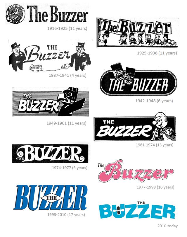 Buzzer logos through the years!