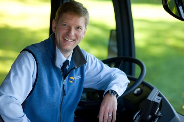 Brian Revel, bus operator!