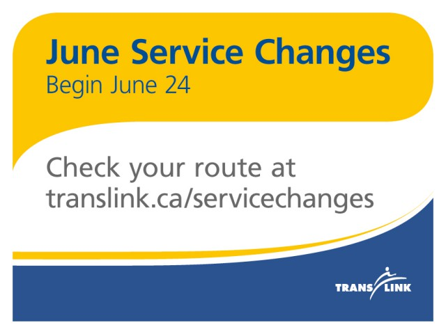 Our summer service changes take off on Monday, June 24, 2013!
