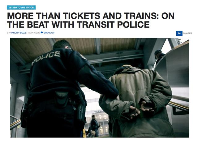 Transit Police on Vancity Buzz