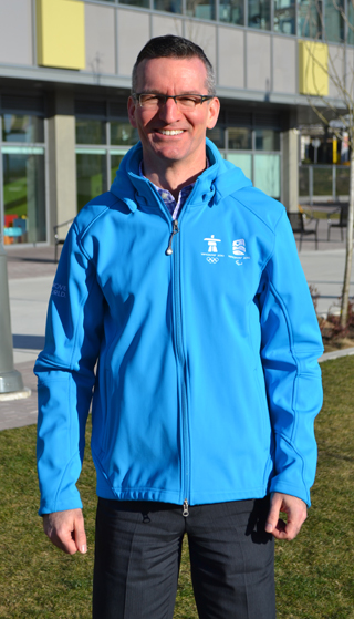 Ian wearing his TransLink staff official Winter Olympic Jacket