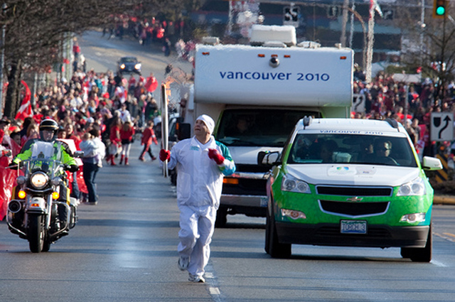 Sergio from Coast Mountain Bus Company in the 2010 Winter Olympic torch relay!