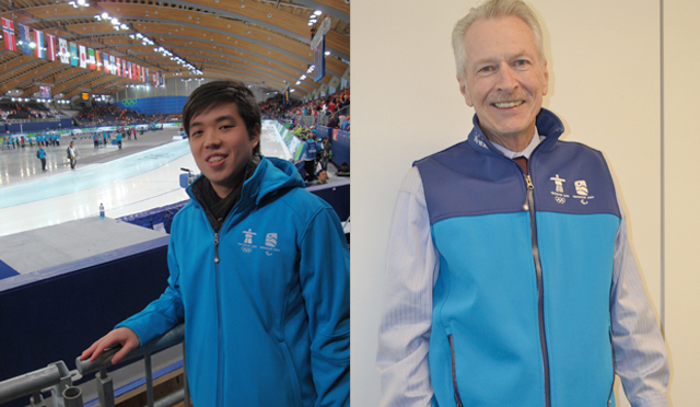 Paul Cheng and Paul Barlow (minus the jacket)