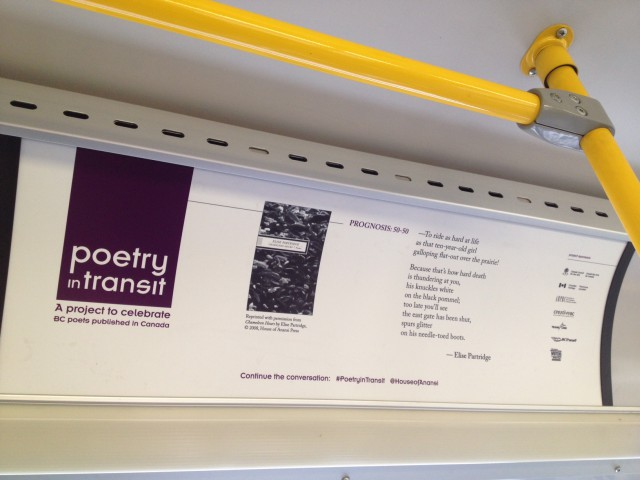 One of the 20 poems that will be featured around the system on buses and transit shelters! (Photo: Gerilee McBride)