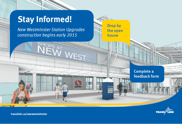 Here's whats coming up at New Westminster Station!