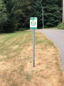 Old BC parkway wayfinding sign